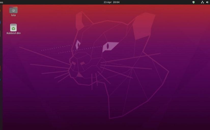 ubuntu 20.04の端末でメニューバー表示